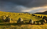 Title:Meadows stones clouds-Nature High Quality Wallpaper Views:1065