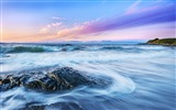 Title:Shiny rock beach ocean waves-Nature High Quality Wallpaper Views:1106