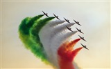 Title:Aircraft green white orange smoke-Widescreen High Quality Wallpaper Views:887