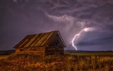 Title:Barn lightning sky clouds-Nature Scenery HD Wallpaper Views:1255