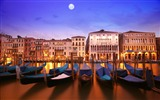 Title:Gondola boats river canal light lighting-Venice Italy Travel HD wallpaper Views:804