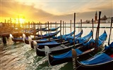 Title:Gondolas sunset river-Venice Italy Travel HD wallpaper Views:1147