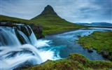 Title:Iceland waterfall hills river-Nature Scenery HD Wallpaper Views:1484
