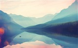 Title:Mountains greatness silence lake-Widescreen High Quality Wallpaper Views:1893