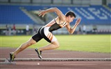 Title:Sprinter game athlete running man-Widescreen High Quality Wallpaper Views:1085