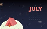 Title:Camping On The Moon-July 2016 Calendar Wallpaper Views:2356