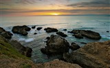 Title:Coast sea horizon evening-Scenery High Quality Wallpaper Views:1023