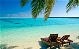 Title:Deck chairs beach vacation-Summer Scenery HD Wallpaper Views:2517