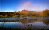 Title:Foggy lake autumn forest-scenery HD wallpaper Views:620