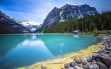 Title:Forest turquoise lake guarded-scenery HD wallpaper Views:655