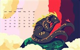 Title:Friends Painting-July 2016 Calendar Wallpaper Views:1550