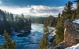 Title:River alberta canada mountains-Scenery High Quality Wallpaper Views:1257