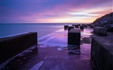 Title:Sea beach stones evening-Scenery High Quality Wallpaper Views:1258