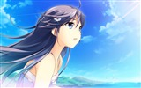 Title:Beautiful girl face blue sky-Anime Character HD Wallpaper Views:874