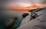Title:Coastal white rocks sunset-2016 High Quality Wallpaper Views:1015