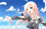 Title:Cute girl blue sky-Anime Character HD Wallpaper Views:1187