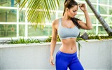 Title:Girl training weight loss figure-Fitness photo wallpaper Views:1015