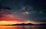 Title:Island sunset nebula space-Nature High Quality Wallpaper Views:430