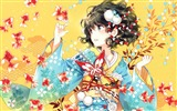 Title:Japan kimono girl-2016 Anime HD Wallpaper Views:904