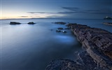Title:Sea evening great britain blocks-2016 Nature Photo HD Wallpaper Views:901