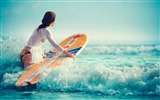 Title:Sexy girl beach surfing-Fitness photo wallpaper Views:1047
