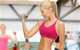 Title:Sexy girl exercise dumbbells-Fitness photo wallpaper Views:961