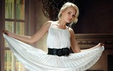Title:Blonde girl in white dress-Beauty Photo Wallpaper Views:1187