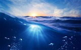 Title:Ocean underwater blu rays-HD Retina Wallpaper Views:1109