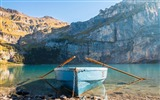 Title:Boat and rock mountains lakes-Travel HD Wallpaper Views:815