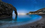 Title:Durdle door beach night stars sky-Nature Scenery Wallpaper Views:624