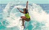 Title:Girl on a surfboard-Sports Poster Wallpaper Views:894