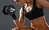 Title:Girl with dumbbells-Sports Poster Wallpaper Views:694