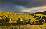 Title:Meadows stones clouds-Nature High Quality Wallpapers Views:662