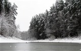 Title:River winter trees ice snow black white-2016 Nature HD Wallpaper Views:626
