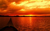 Title:Summer sunset on lakes-Nature Scenery Wallpaper Views:494