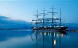 Title:Ocean Ship Evening-2016 High Quality HD Wallpaper Views:196