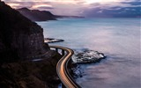 Title:Road over the sea along the cliff-Nature Scenery Wallpaper Views:332