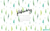 Title:February Ferns-February 2017 Calendar Wallpaper Views:1286