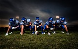 Title:Football players in blue jersey-Sports Poster HD Wallpaper Views:546