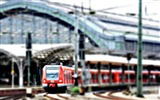 Title:Red train station on overcast-Cities Photography HD Wallpaper Views:588