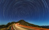 Title:star trails mountain road-High Quality HD Wallpaper Views:475
