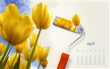 Title:Flowers On The Wall-April 2017 Calendar Wallpaper Views:1289