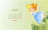 Title:Spring Magic-April 2017 Calendar Wallpaper Views:149