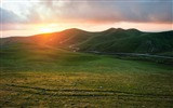 Title:Valley grass sunset-Scenery High Quality Wallpaper Views:301