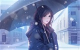 Title:Winter love girl umbrella-2017 High Quality Wallpaper Views:371