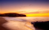 Title:Beach yellow sunset-Scenery Photo HD Wallpaper Views:843