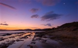 Title:Sunset on the beach-Nature landscape wallpaper Views:188