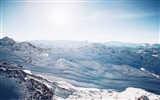 Title:Aerial snow capped mountains-Scenery High Quality Wallpaper Views:1067
