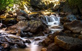Title:Stream flowing through rocks-Scenery High Quality Wallpaper Views:150