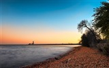Title:Trees on shoreline under blue sky-Scenery High Quality Wallpaper Views:332